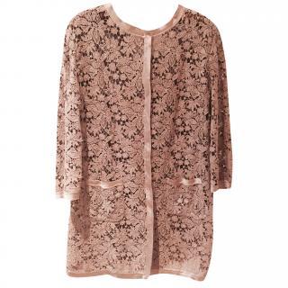 Parosh Ladies Lace Coat with Silk Trim