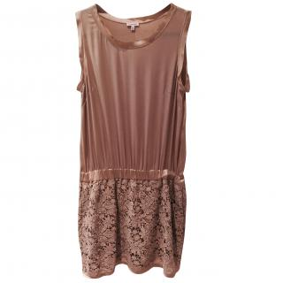 Parosh Silk and Cotton Lace Dress
