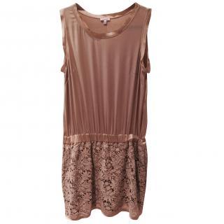 Parosh Silk and Cotton Lace Dress
