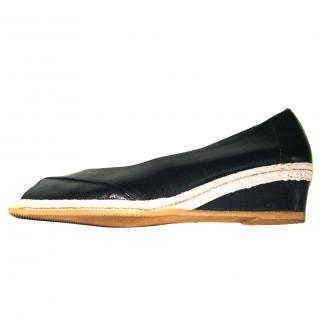 Russell & Bromley leather wedge espedrilles, size  40