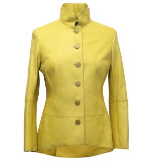 Akris Yellow Leather Jacket