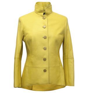 Akris Yellow Leather Jacket