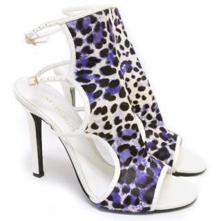 Tamara Mellon Trouble Maker Calf-Hair Sandals