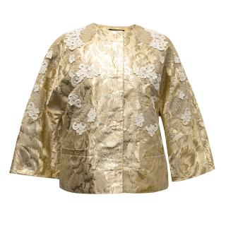 Dolce & Gabbana gold embroidered jacket