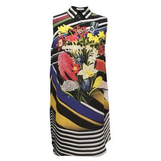 Mary Katrantzou Sleeveless Multi-Print Shirtdress
