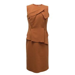 Bottega Veneta Orange Wool Dress