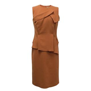 Bottega Veneta Orange Wool Dress