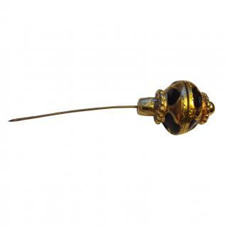 Yves Saint Laurent Gold and Enamel Pin