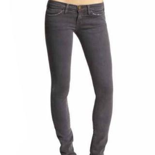 Current Elliott The Straight Leg Grey Jeans