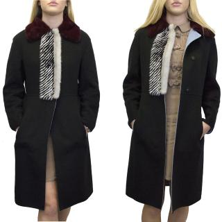 Fendi mink fur and cashmere coat