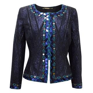 Matthew Williamson Blue Embellished Jacket