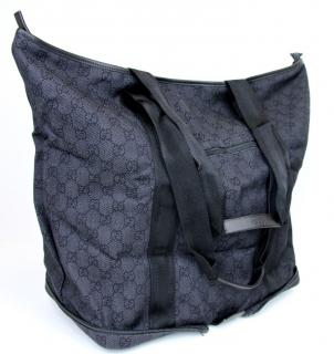 GUCCI Black GG Collapsible Business Tote, Travel Bag