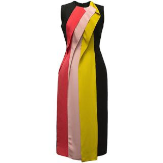 Roksanda Black Dress with Coloured Stripes.