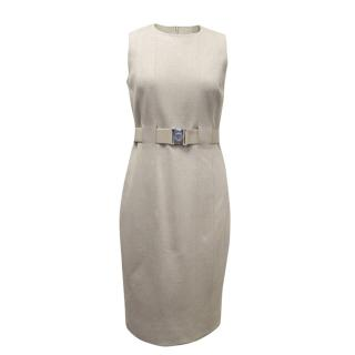 Akris Punto Sleeveless Grey Dress with a Belt