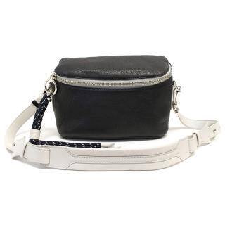 Acne Black and White hip bag with rope detail. bag New season
