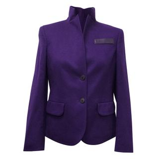 AKRIS 100% cashmere purple jacket.