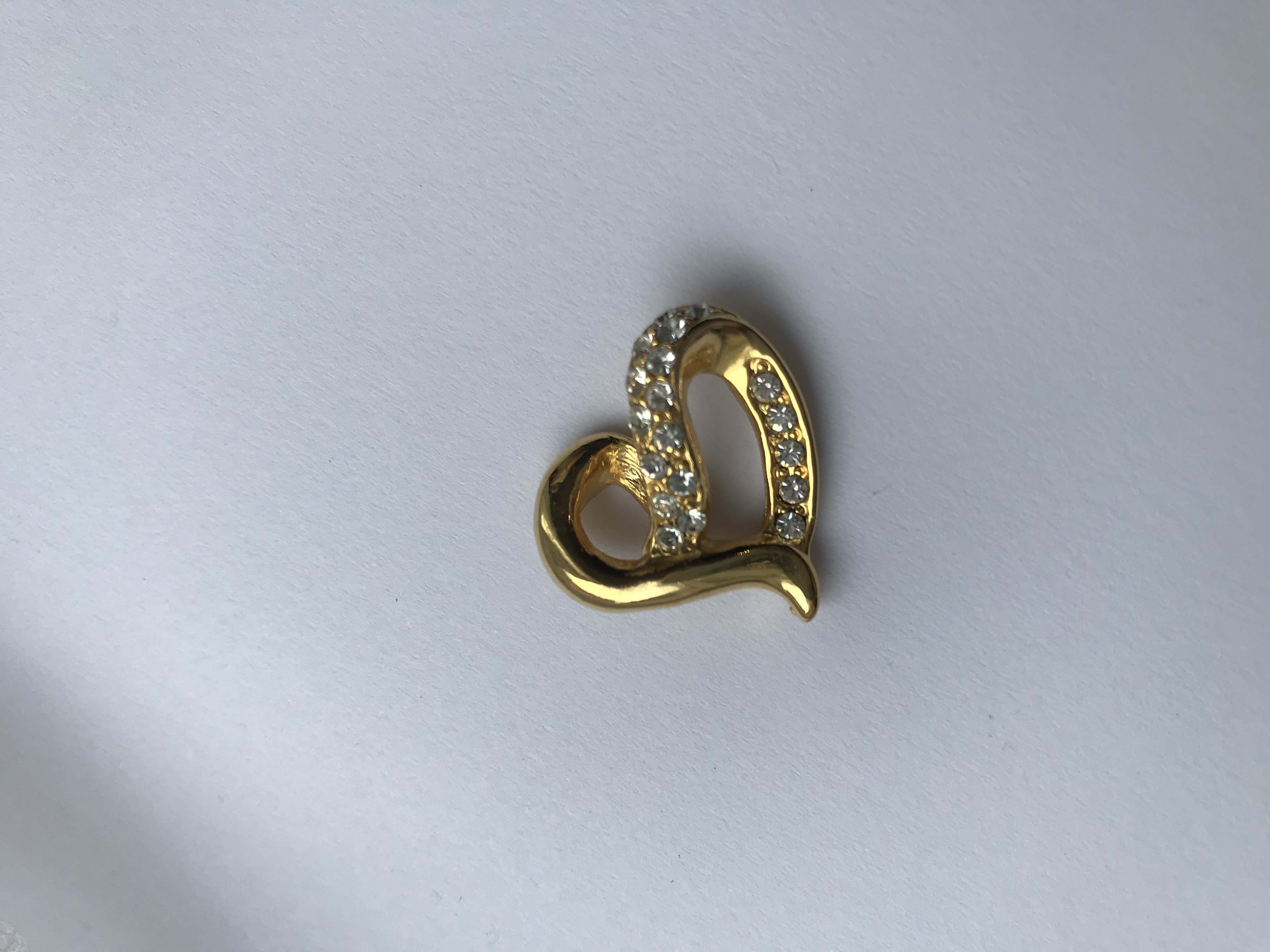 Nina Ricci Vintage Crystal Heart Pendant