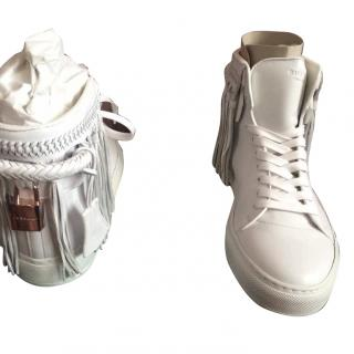 Buscemi fringe high top sneakers
