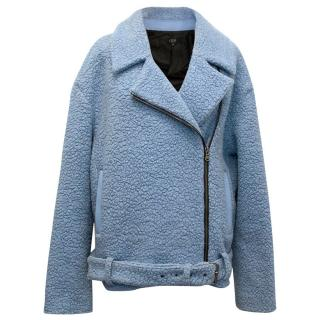 Tibi New york light blue biker jacket.