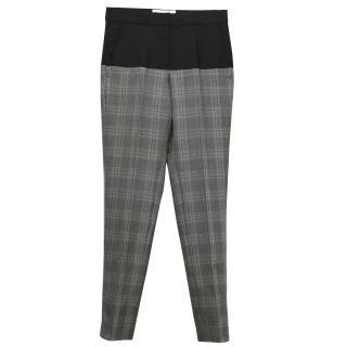 Stella McCartney black and tweed look check trousers