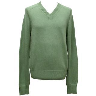 Marc Jacobs Green V neck jumper.