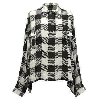 Rag and Bone Check 100% Silk shirt