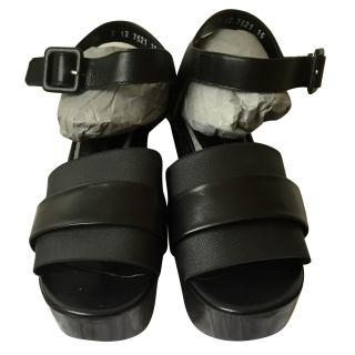 Robert Clergerie Black Heeled Culturk Sandals