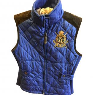 Ralph Lauren quilted puffer vest , large crown logo