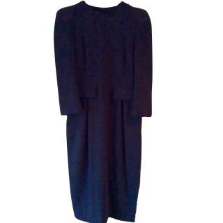 By Malene Birger Black crepe midi dress