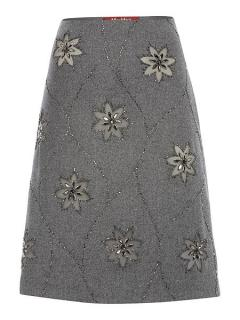 NEW Max Mara Jewel Front Pencil Skirt