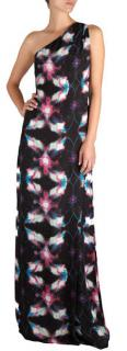 Halston Heritage Disco Print Full Length Dress