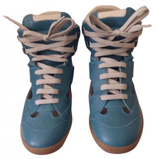 Maison Martin Margiela Blue High Top Sneakers