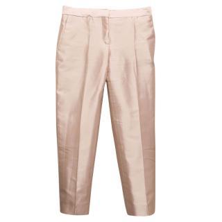 Salvatore Ferragamo Baby Pink Baby Pink Silk Trousers