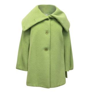 Armani Collezioni Bright Green Wool Blend Coat