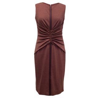 Carolina Herrera Faded Red Wool Blend Dress