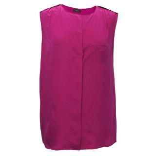 Joseph Fuchsia Pink Silk Blouse