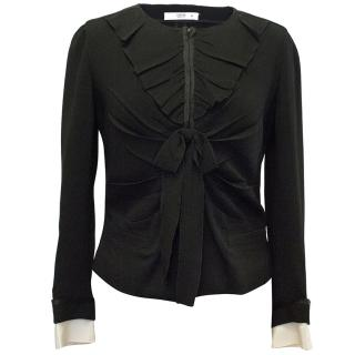 Prada Black Ruffled Jacket