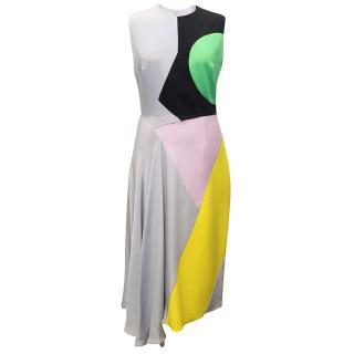 Roksanda Sleeveless Grey Colour Block Dress