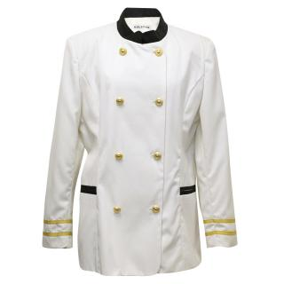 Halston Cream Sailor Style Jacket