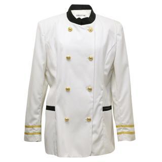 Halston Cream Sailor Style Jacket