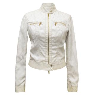 Gucci White Jacket with Gucci's Monogram