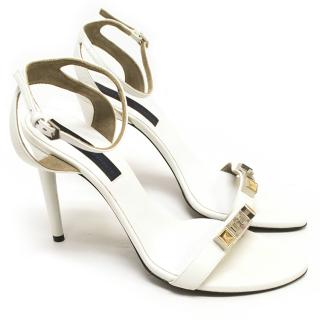 Proenza Schouler Size 40 White Leather Sandals