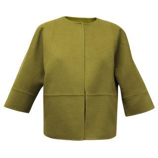 Michael Kors Green Wool Blend Jacket
