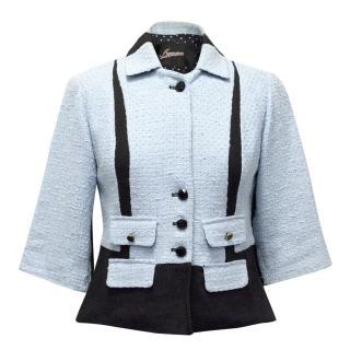 Aggugini Blue Jacket With Black Details