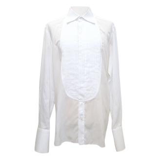 Tom Ford Tuxedo shirt with pleated front.