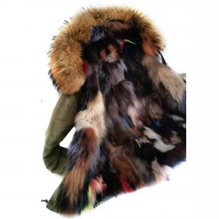 Parka Fur Raccoon multicoloured jacket