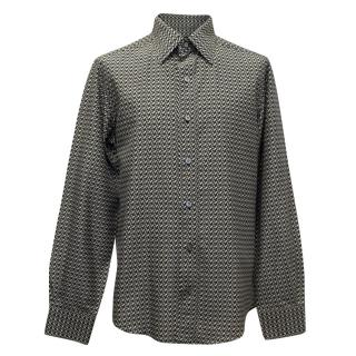 Tom Ford Black and White Pattern Shirt