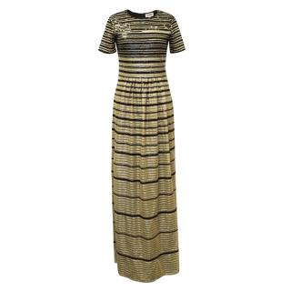 Alice by Temperley Gold and Black Sequined Maxi
