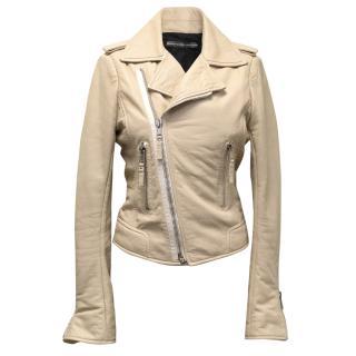 Balenciaga Beige Leather Jacket