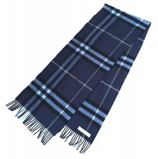 Burberry 100% Cashmere Checkered Classic Scarf UniSex